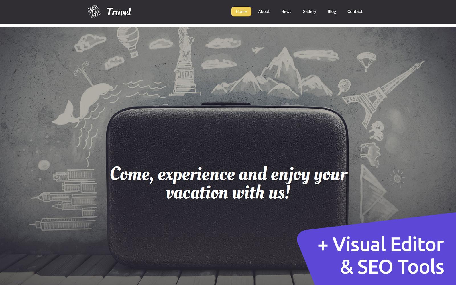 Responsive Travel Agency Moto Cms 3 #58795