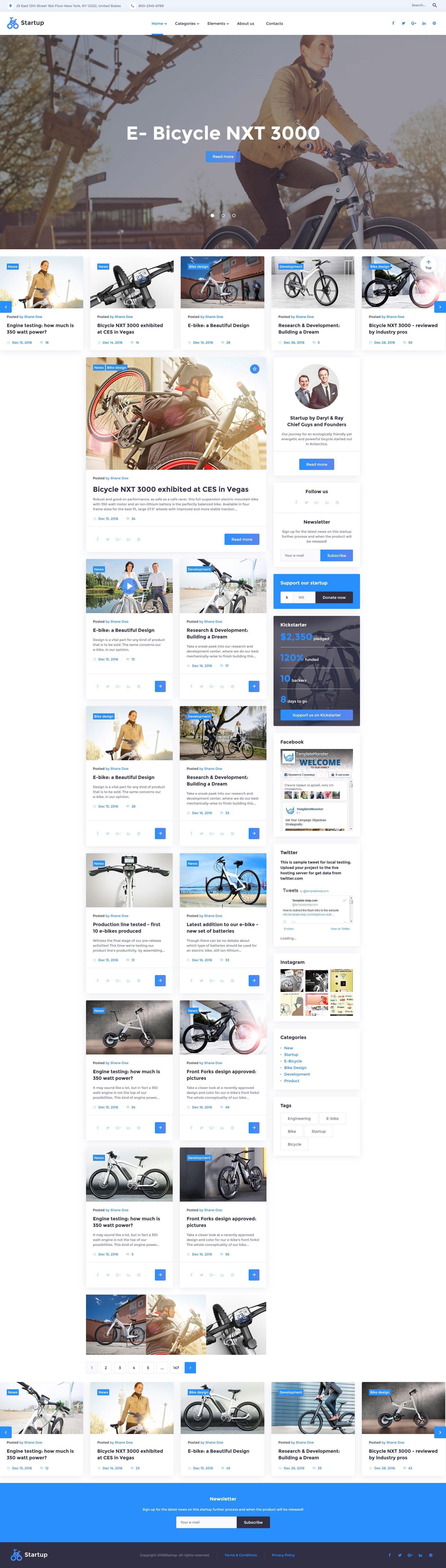 Responsivt Startup Hemsidemall #58730 - skärmbild