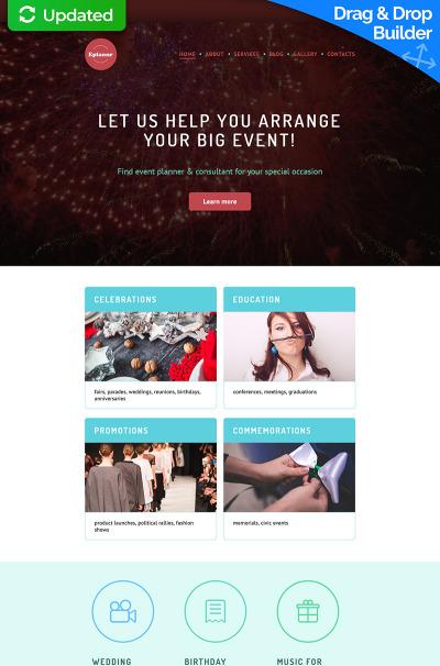 Event Planner Responsive Moto CMS 3 šablona