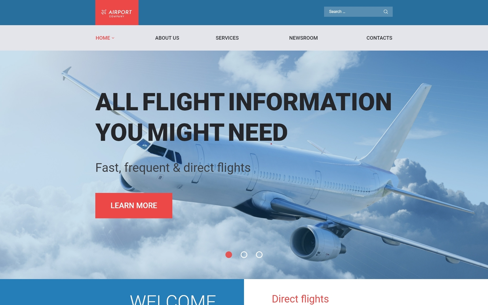 Reszponzív Airfares WordPress sablon 58778
