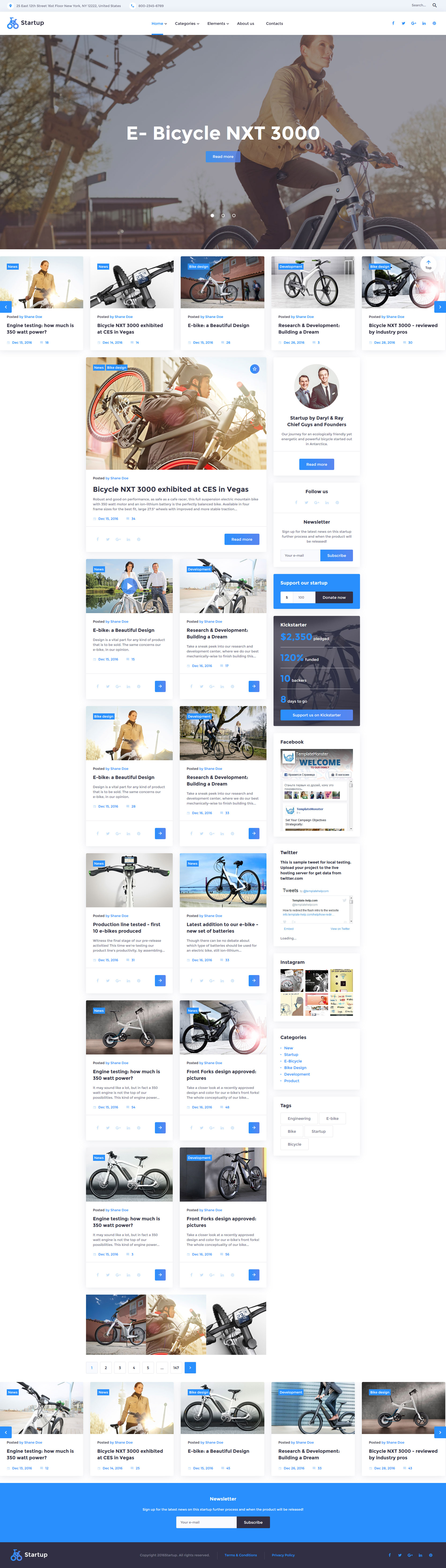 Reszponzív Startup Weboldal sablon 58730 - képernyőkép