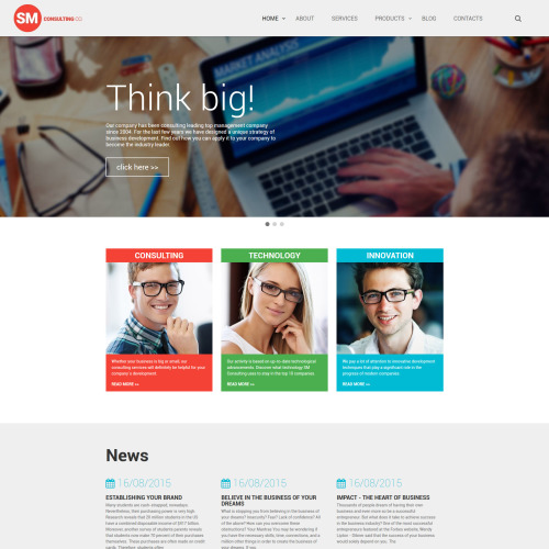SM Consulting Co - Website Template based on Bootstrap