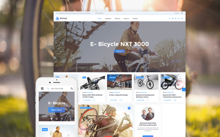 Startup Website Template New Screenshots BIG