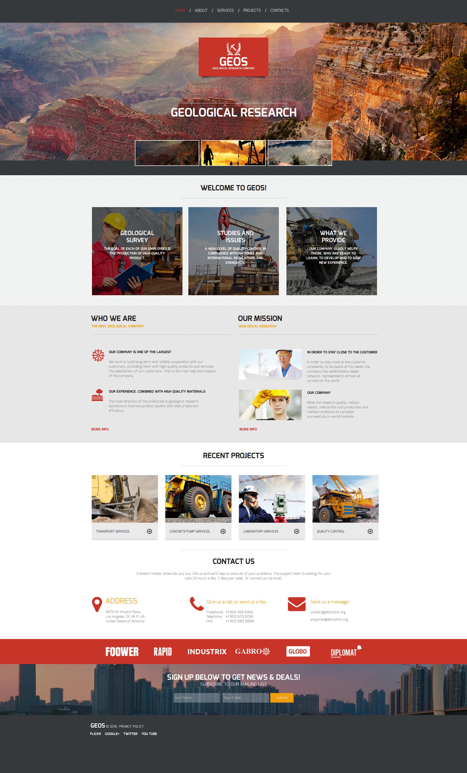 Tema Moto CMS HTML #58752 per Un Sito di Industria - screenshot
