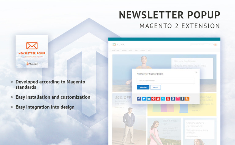 TM Newsletter Popup Magento Extension New Screenshots BIG