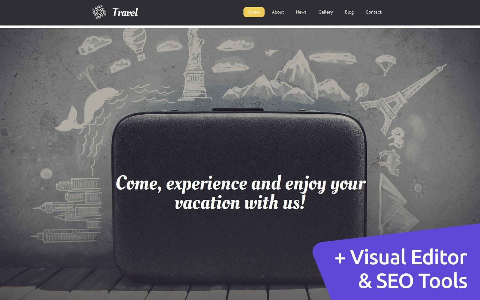 Travel Agency Templates Moto CMS 3 №58795