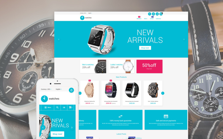 Watches Magento Theme New Screenshots BIG