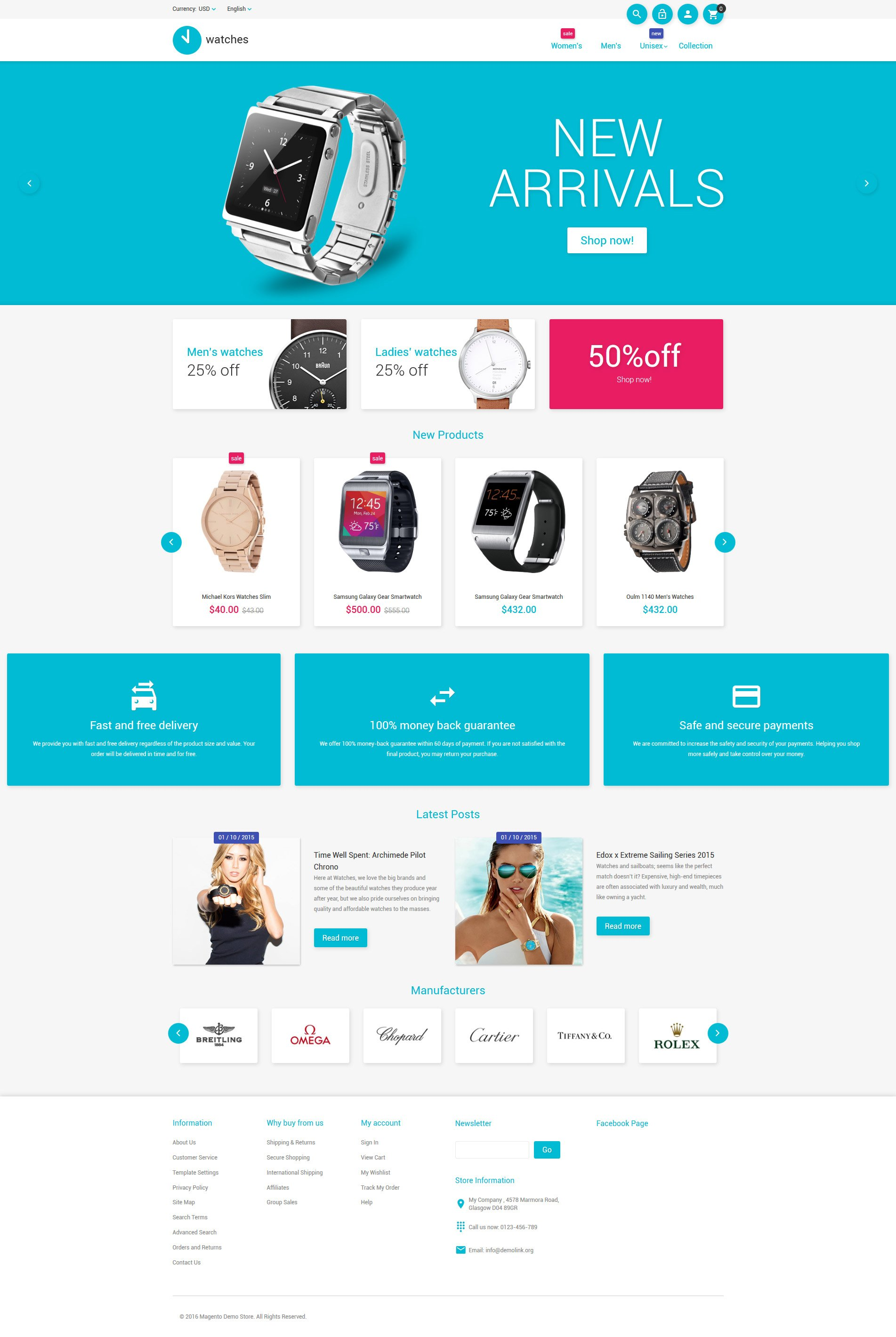Watches Magento Template