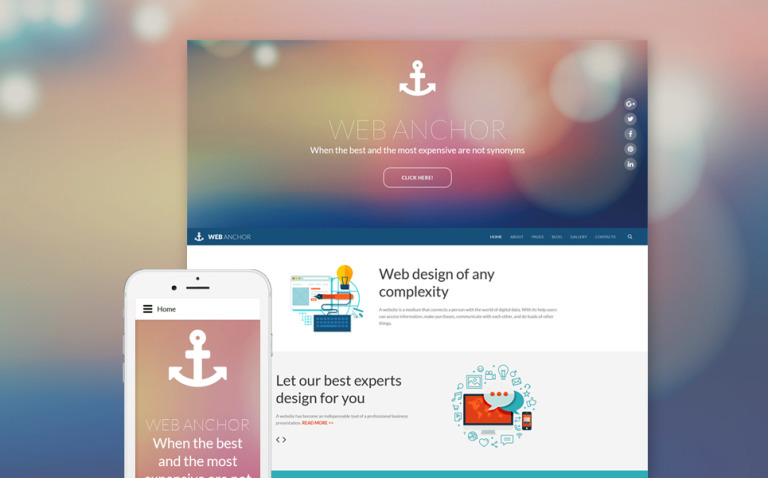 Web Anchor Joomla Template New Screenshots BIG