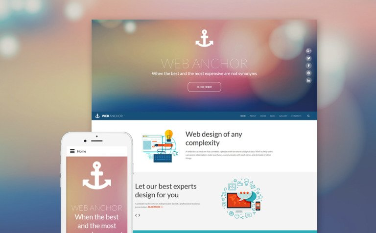 Web Anchor Joomla Template