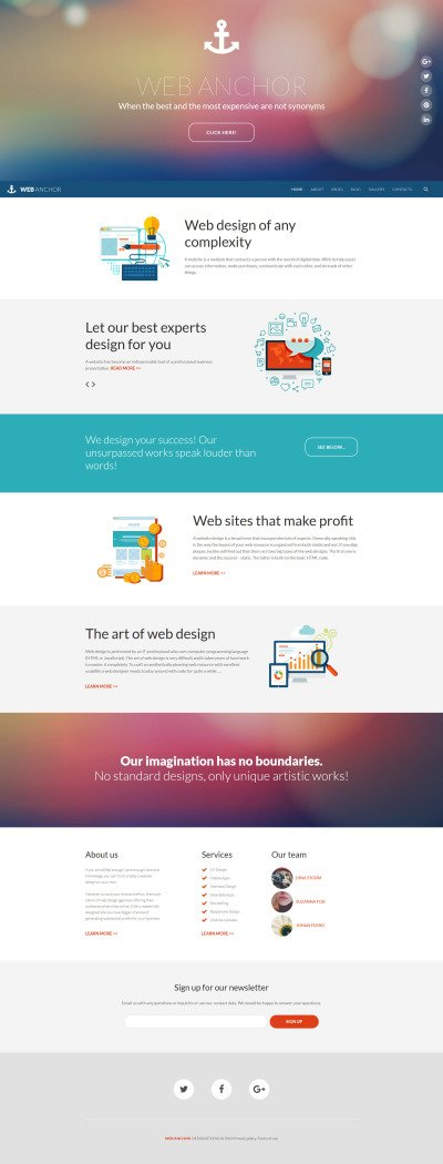 web design portfolio Joomla template