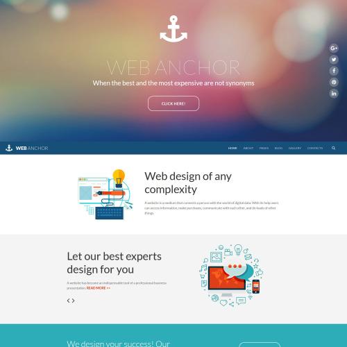 Web Anchor - Joomla! Template based on Bootstrap