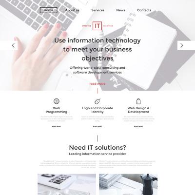 Responsive Website Vorlage für IT