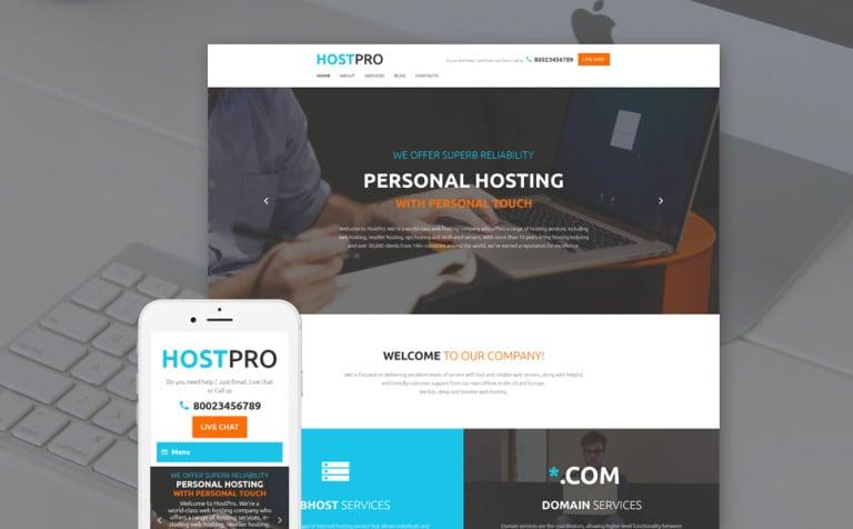 Website Vorlage #58733 für Hosting