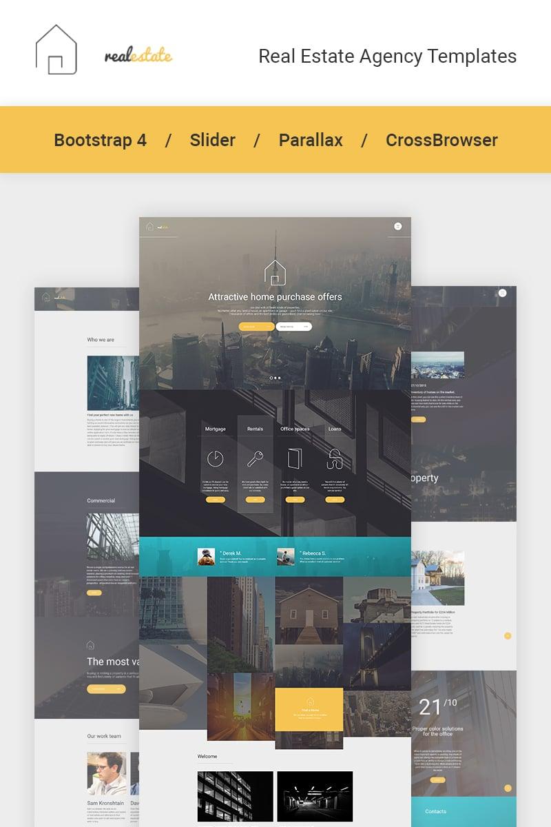 "Website Vorlage namens ""Immobilien"" #58725 - Screenshot"