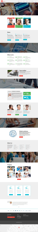 """Website Vorlage namens """"SM Consulting Co"""" #58718 - Screenshot"""