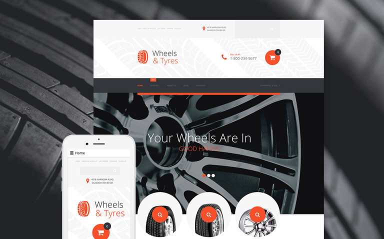 Wheels & Tires VirtueMart Template New Screenshots BIG