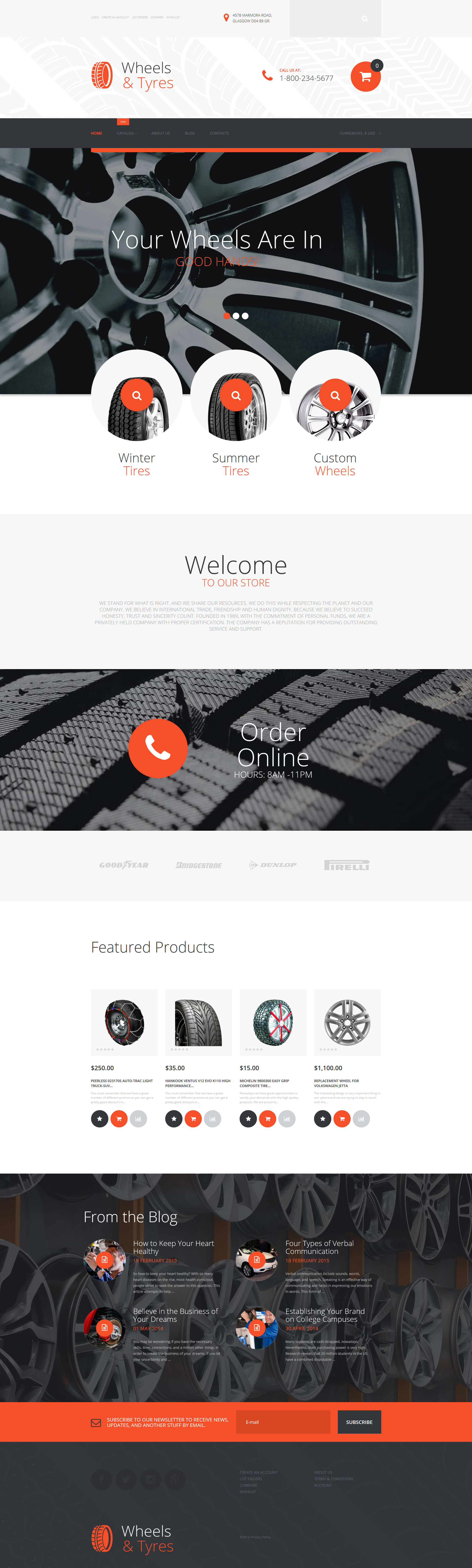 Wheels & Tires VirtueMart Template