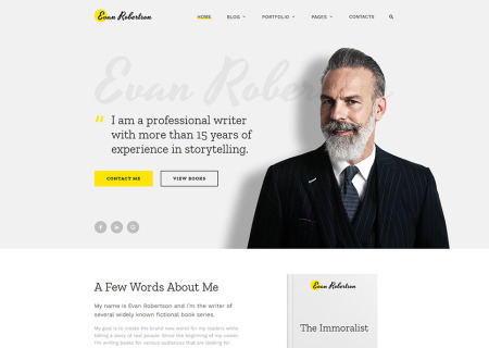 Writer/Author Responsive