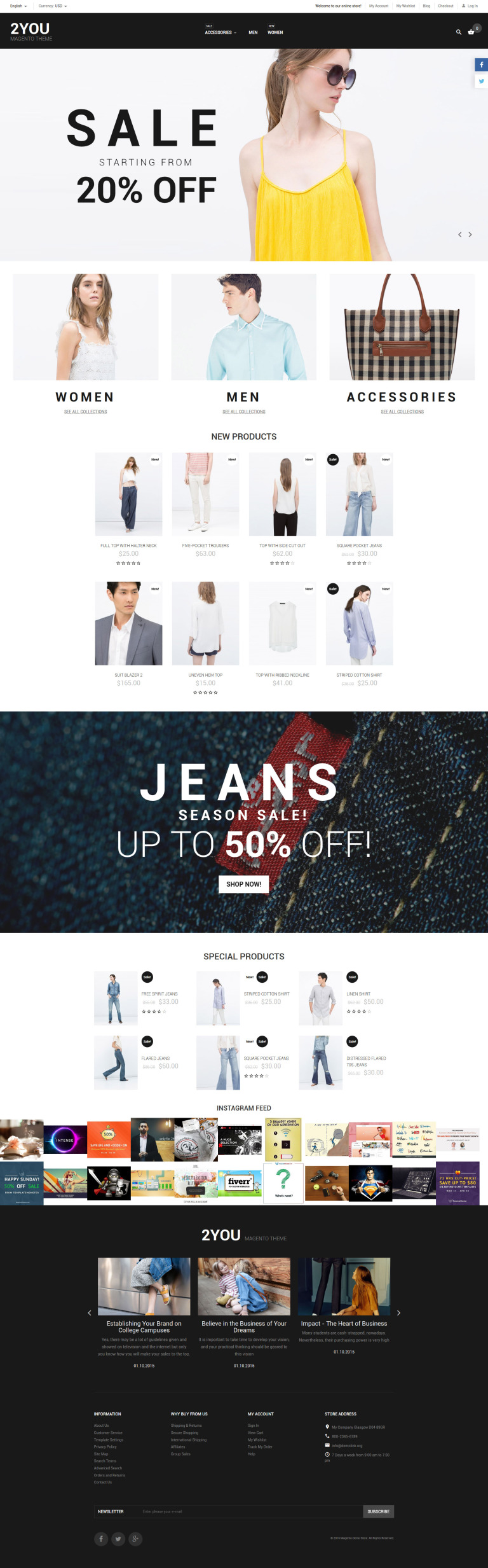 2YOU Magento Theme New Screenshots BIG