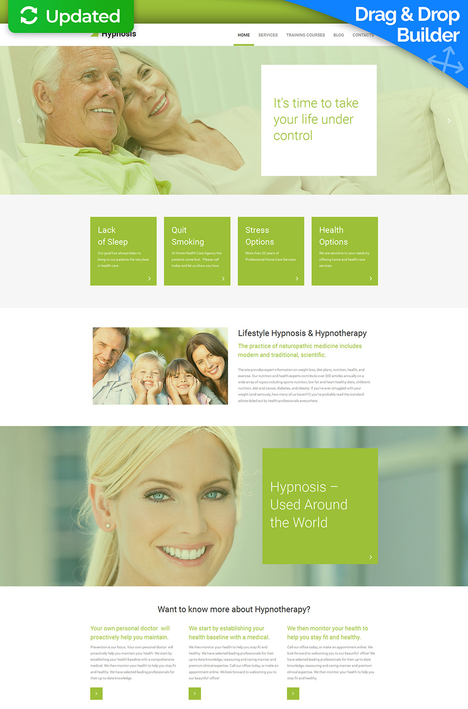 Pre-made web design for medical advisers