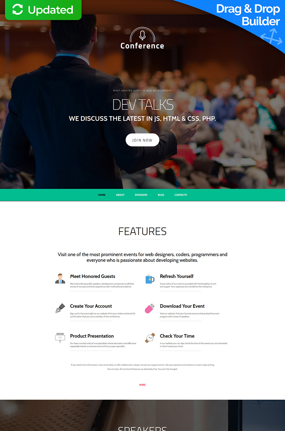 Fully-featured site for conferencing