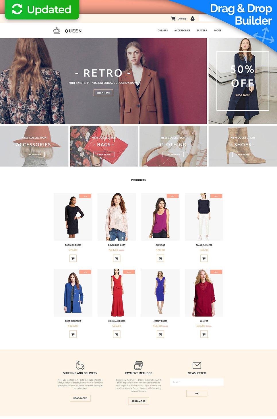 Queen Ecommerce Website Template - image