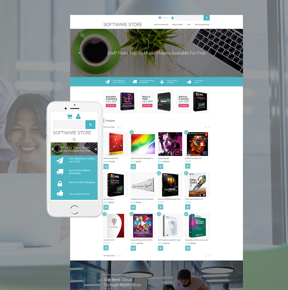 Software Store Ecommerce Website Template - image
