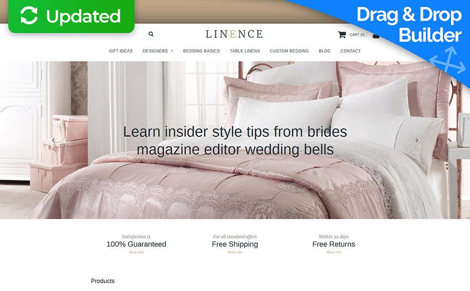 Tema MotoCMS E-commerce Responsive #58821 per Un Sito di Biancheria New Screenshots BIG