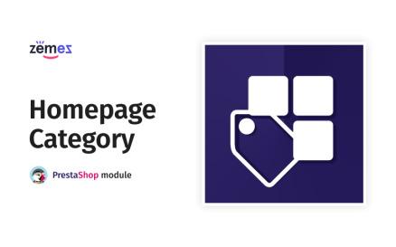 Homepage Category Gallery PrestaShop Module
