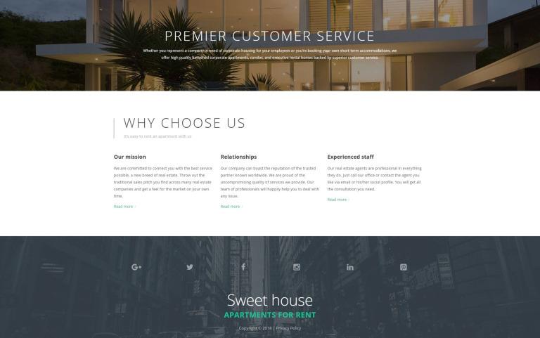 Sweet House Website Template Screenshot