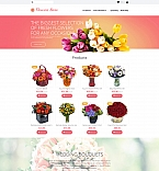 Flowers MotoCMS Ecommerce  Template 58838