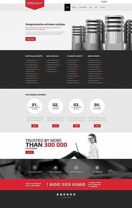 ADOBE Photoshop Template 58844 Home Page Screenshot