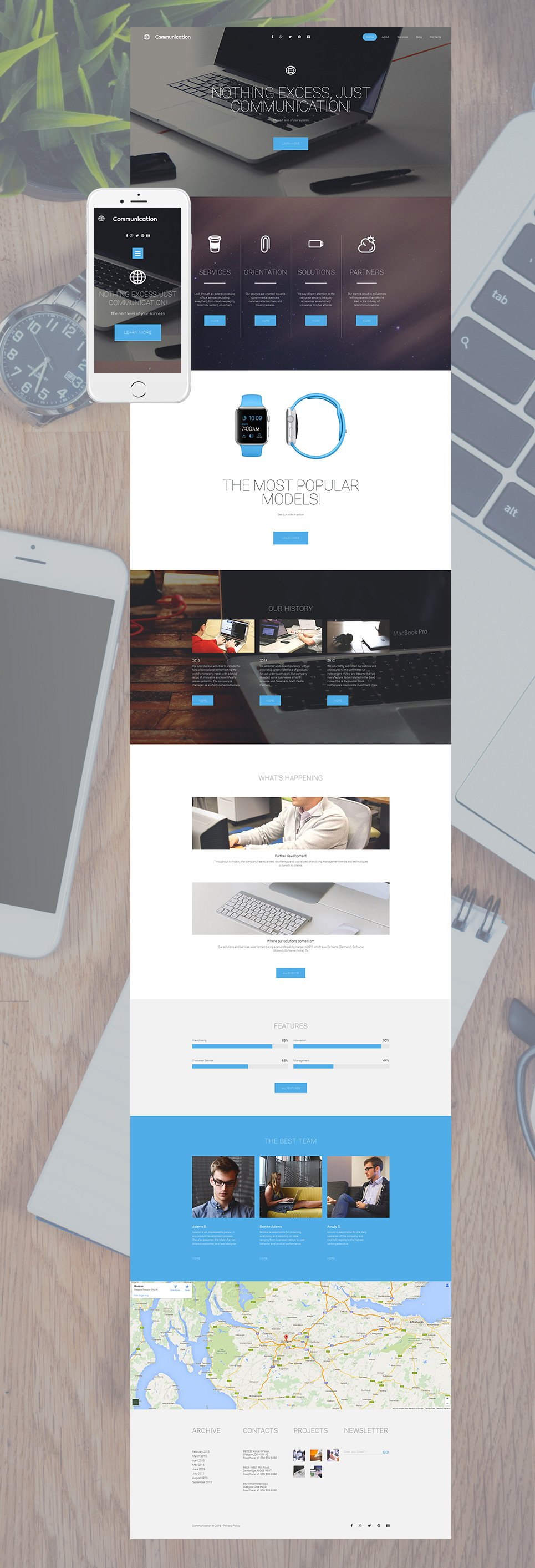 Responsive web theme for business firms