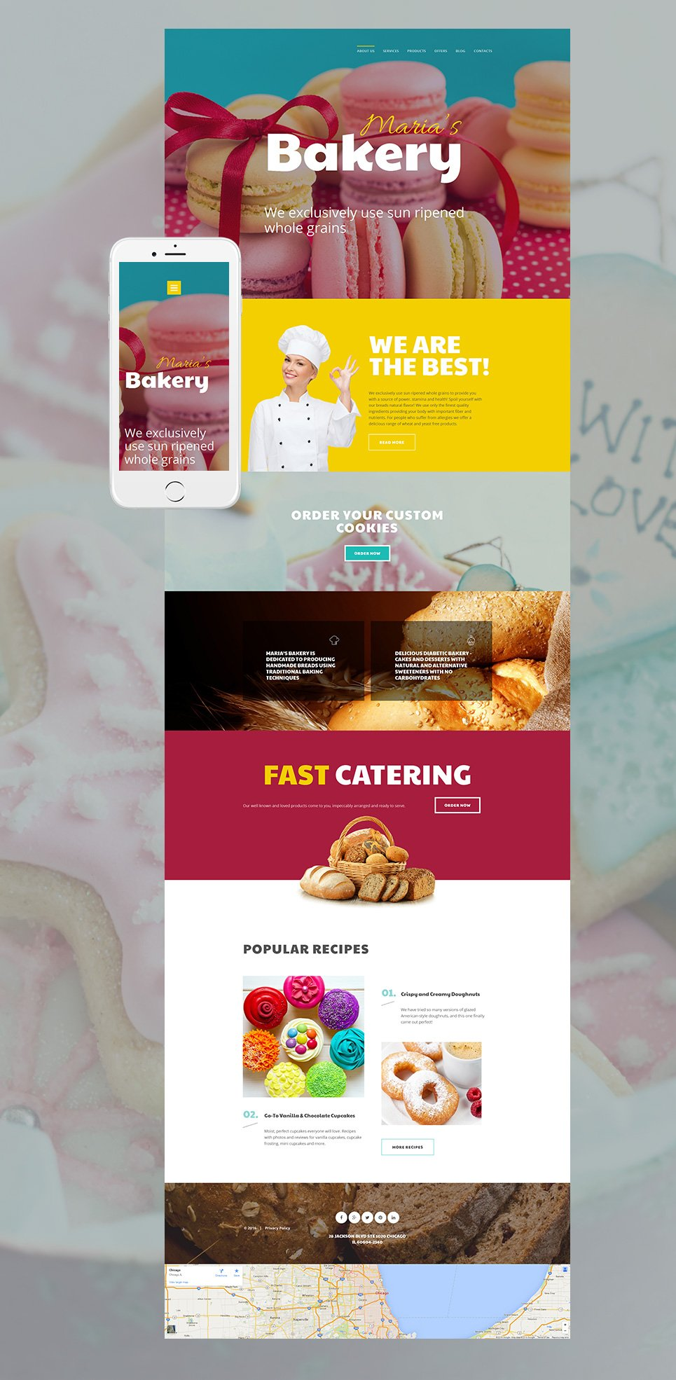Made-up site for bakery shop