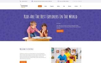 Intense Child Care Website Template