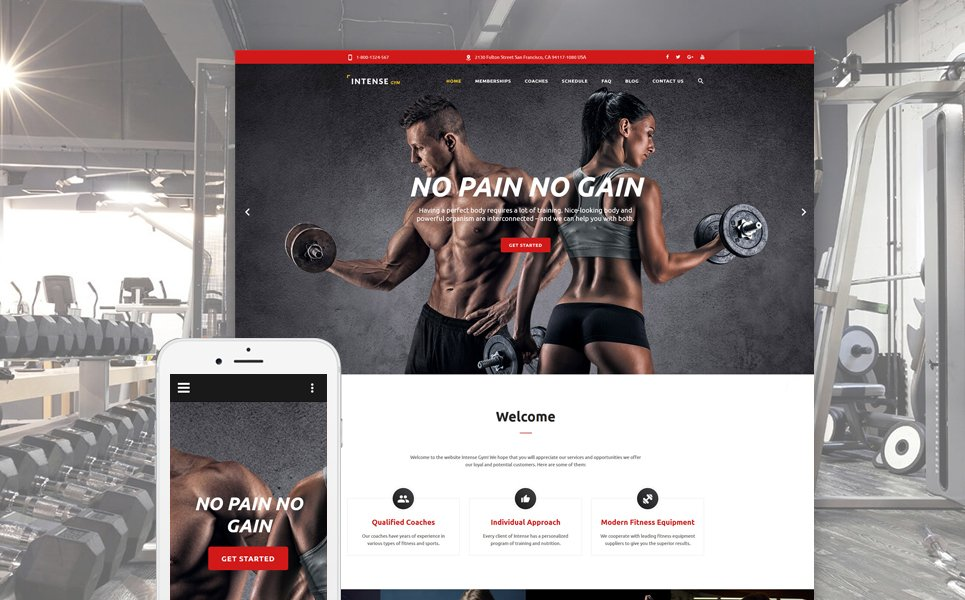 Intense Gym template illustration image
