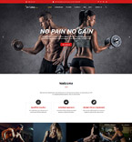 Sport Website  Template 58882