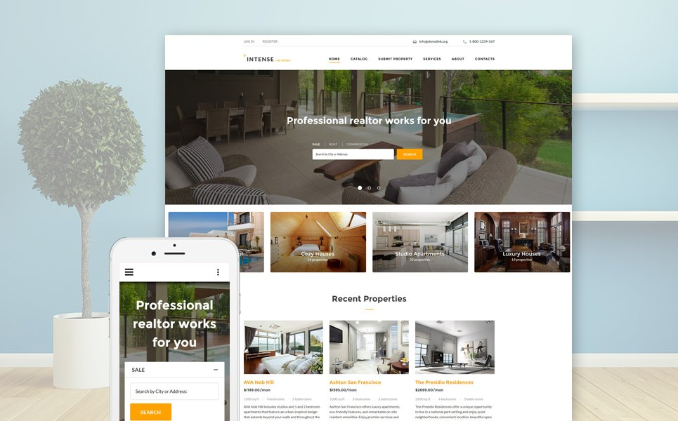 INTENSE Real Estate template illustration image