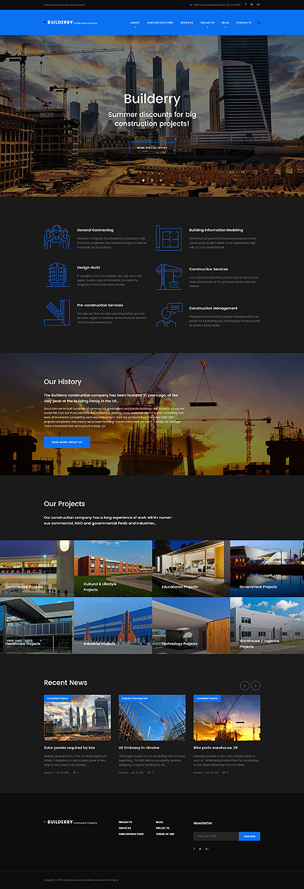 WordPress Theme/Template 58891 Main Page Screenshot