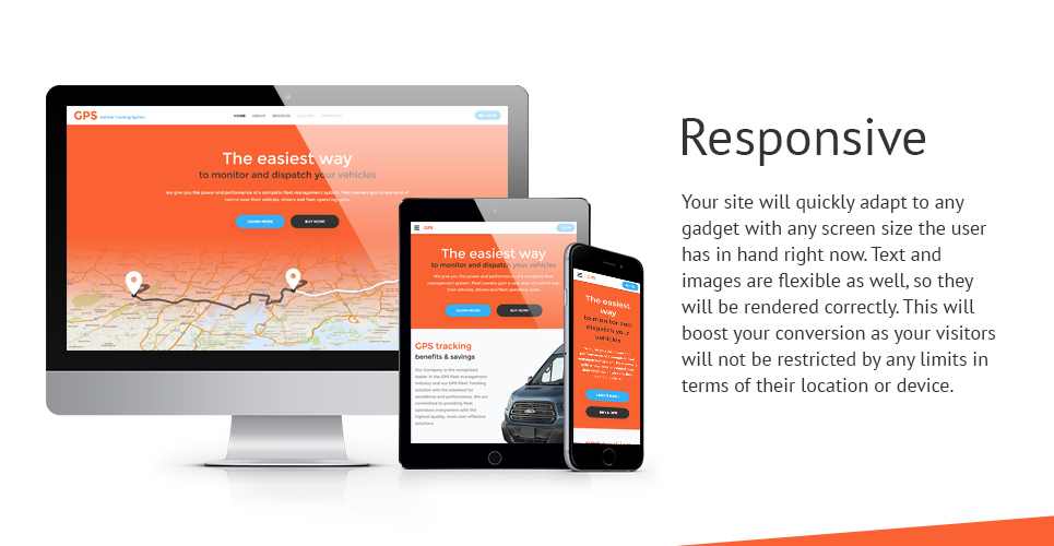 GPS Vehicle Tracking System Website Template