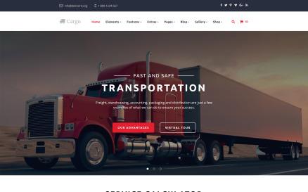 Cargo - Multipurpose Transportation Website Template