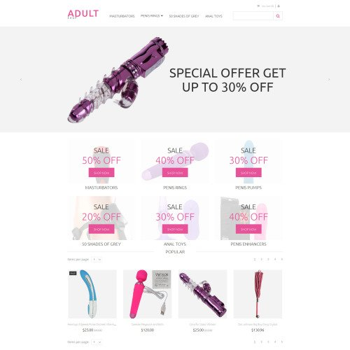 Adult Sex - MotoCMS Ecommerce Template based on Bootstrap
