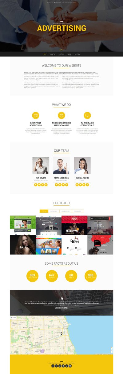 Advertising Drupal Template #58811