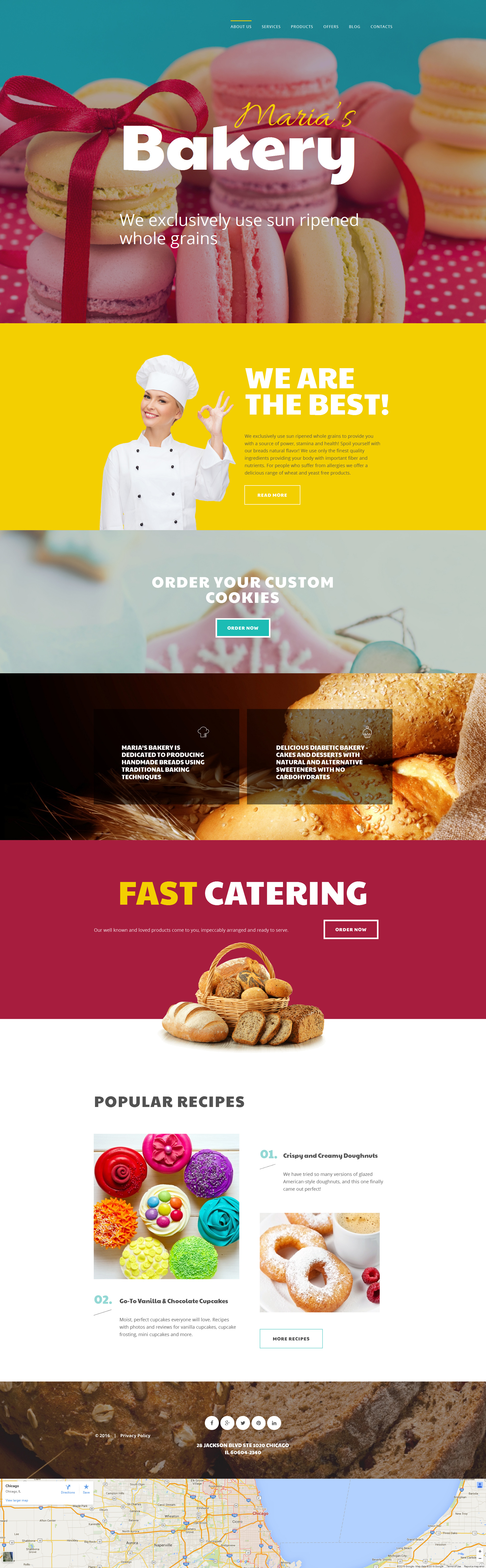 Bakery Responsive Moto CMS 3 Template - screenshot