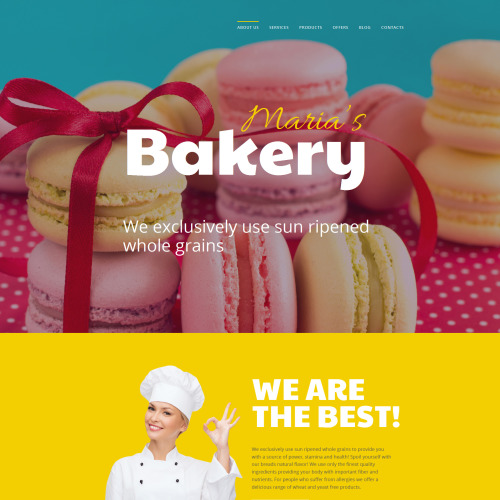 Maria's Bakery - MotoCMS 3 Template based on Bootstrap
