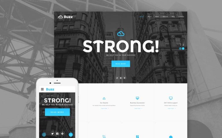 Bank Responsive Website Template New Screenshots BIG