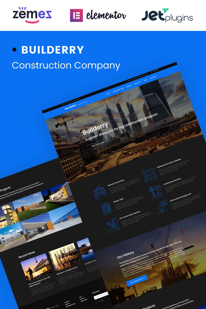 Builderry - Construction Company WordPress Theme New Screenshots BIG