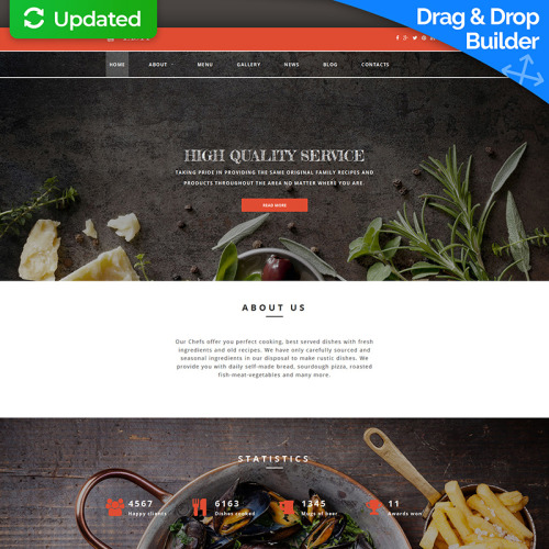 Tasty - MotoCMS 3 Template based on Bootstrap
