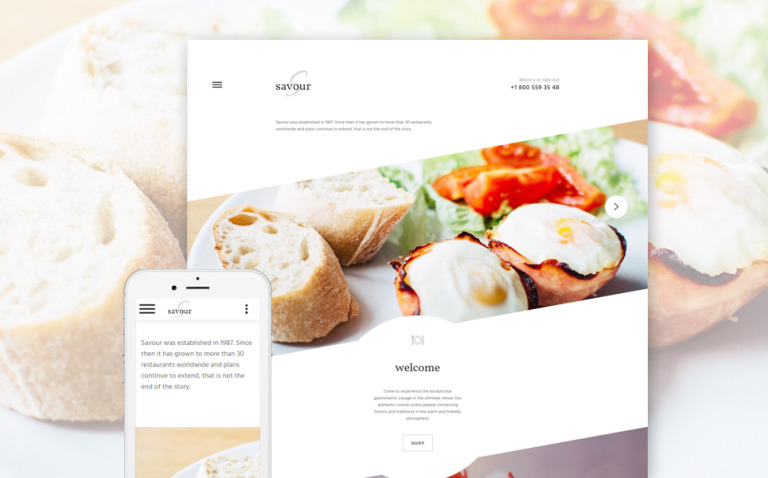 Cafe and Restaurant Responsive Website Template New Screenshots BIG